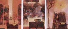 Petites scènes d'intérieur (huile sur papier toilé marouflé sur bois)