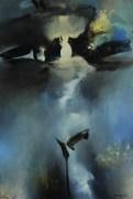 Fin d'hiver (acrylique sur toile 73 x 50 cm) 2017