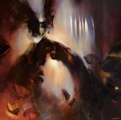 Ombre de nuit (acrylique sur toile 100 x 100 cm)