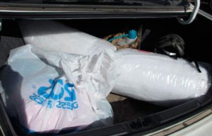 Trunk full of thrift shop donations