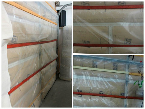 Insulation on metal garage door