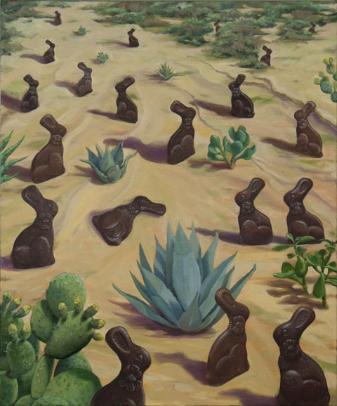 Chocolate Bunnies in the Desert