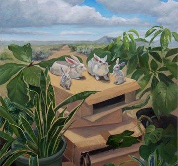 At the Crossroads, Jean Reece Wilkey, oil, 39x27 in