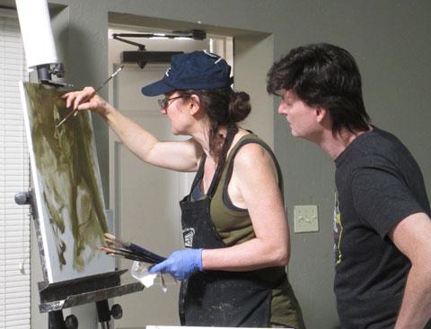 Rose Frantzen helping a student