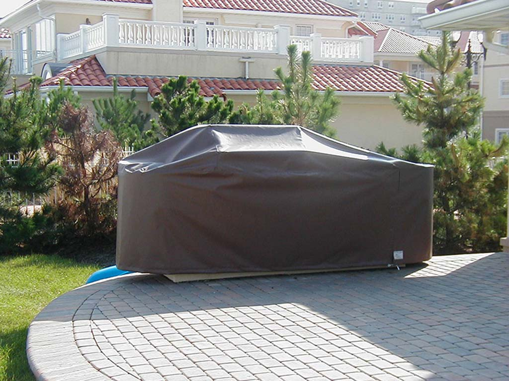 outdoor kitchen covers cart with seating custom fabricated