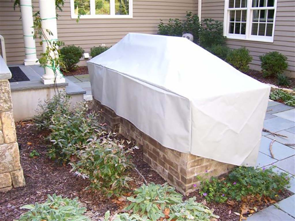 outdoor kitchen covers corner storage custom fabricated
