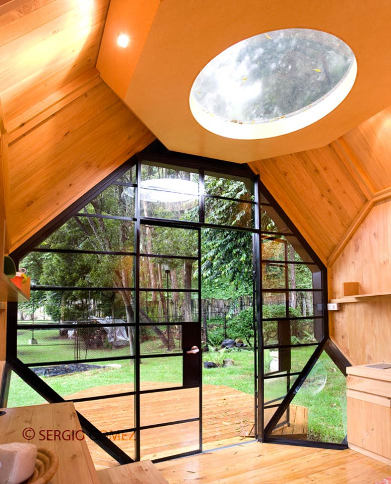 Habitable Polyhedron  A Family Retreat and Garden Office