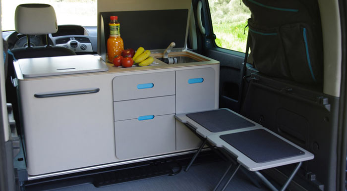 outdoor kitchen fridge german cabinets renault kangoo camper travelpack | by ovicuo