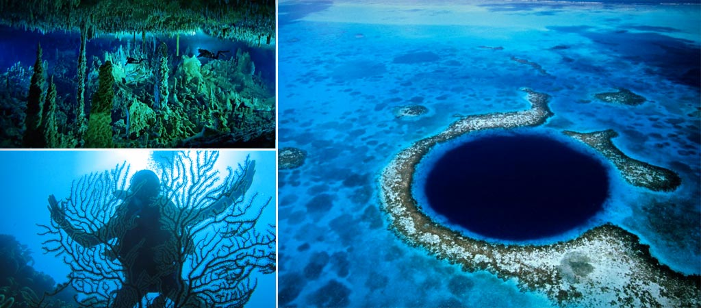 Inside Blue Hole Belize