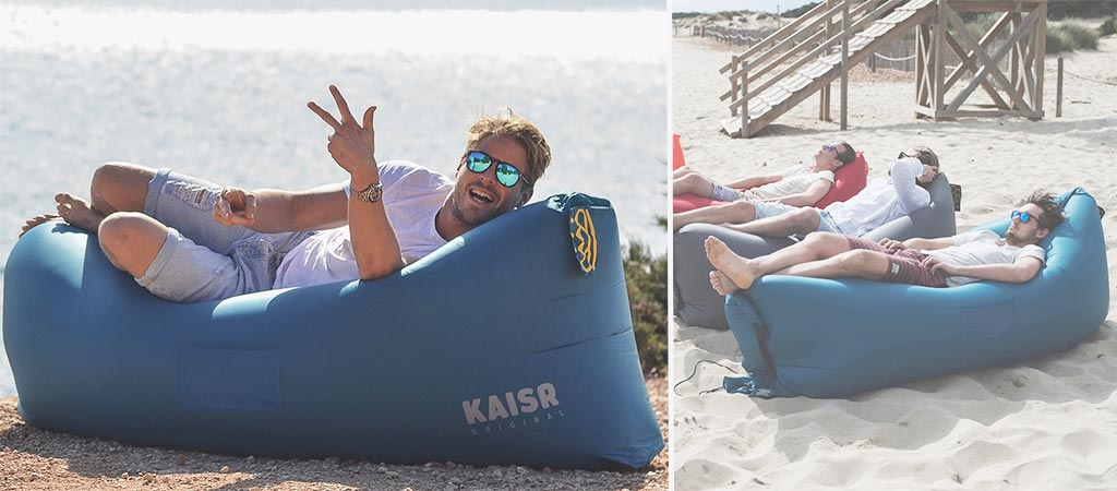 blow up beach chair foam pads kaisr original inflatable sofa lounger