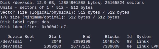 Output of: fdisk -l /dev/sda
