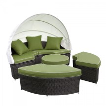 Outdoor Wicker Patio Daybed