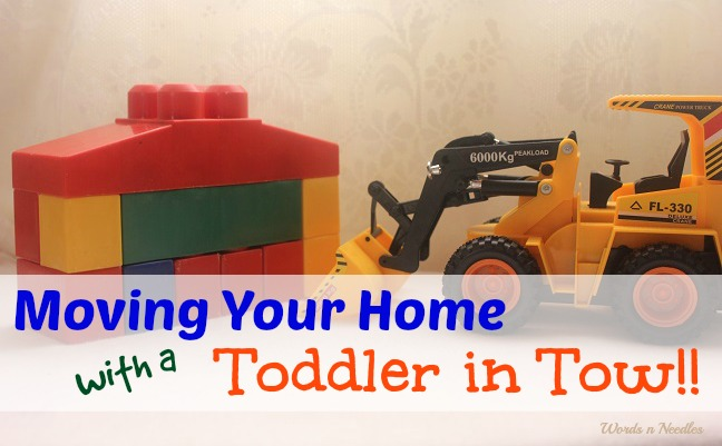 moving your home with toddlers