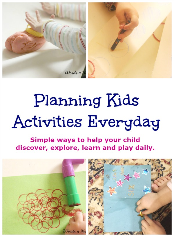 planning kids activities everyday