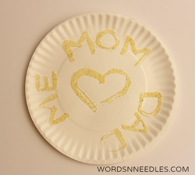 semolina art for mothers fathers