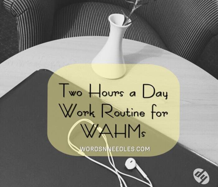 two hour a day work routine for work at home mums bloggers