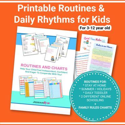 Printable Routines Daily Rhythms for Kids jeddahmom
