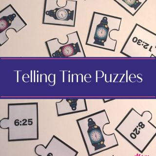 Telling Time activity cards that teach children to tell time kindergarten activity