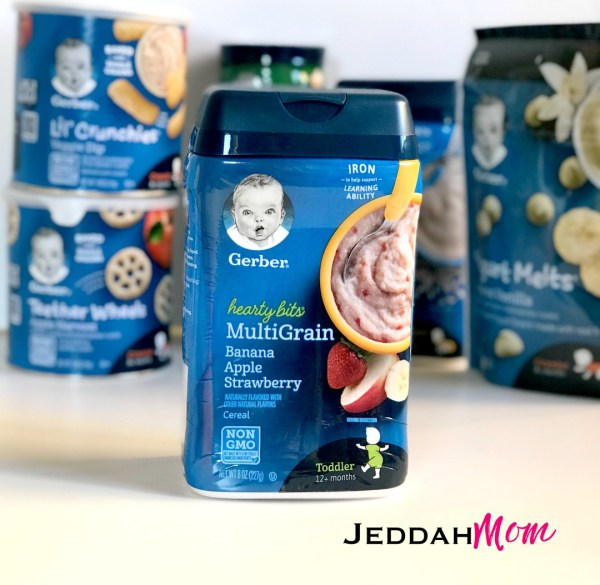 Gerber Heart Bits Multigrain cereal healthy eating JeddahMom