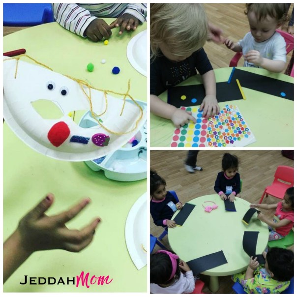 craft actvities at village tot play group jeddahMom