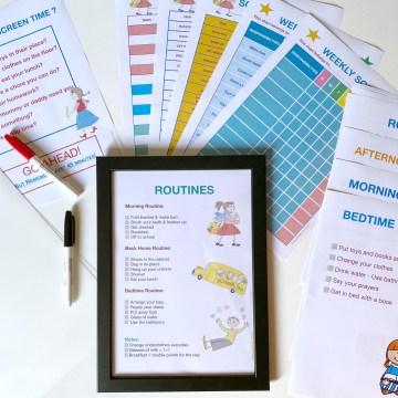 routines charts for children calm confident parenting