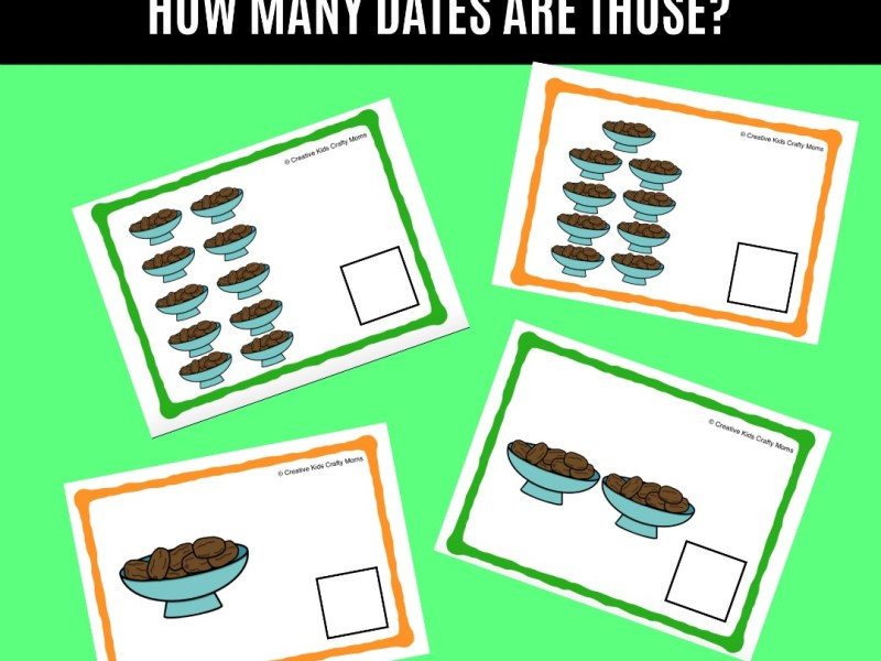 lets count how many dates contend write ramadan numbers activity printable | JeddahMom
