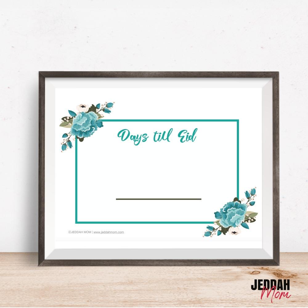 Days till Eid Decoration Pack JeddahMom
