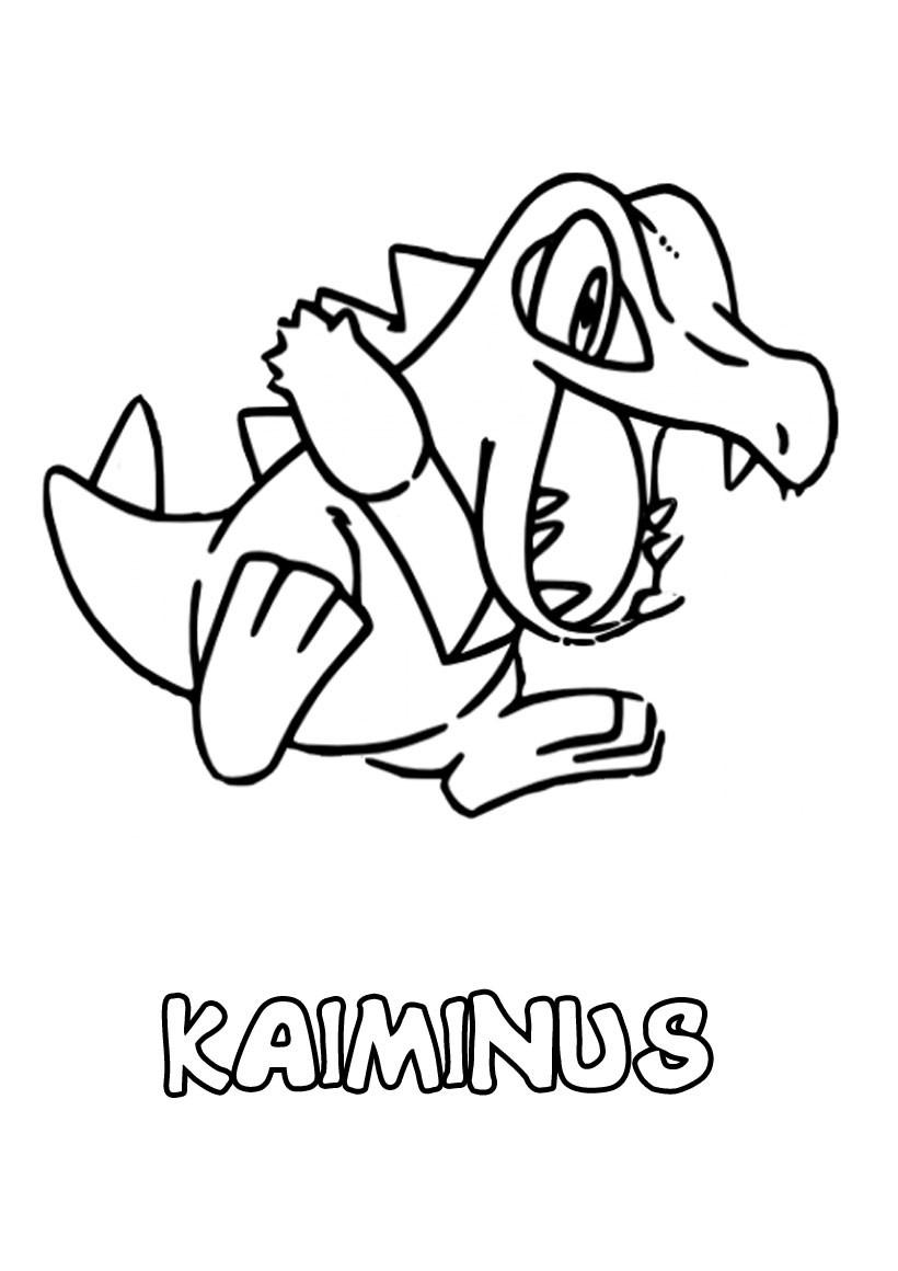 dessin à imprimer du Pokemon Kaiminus