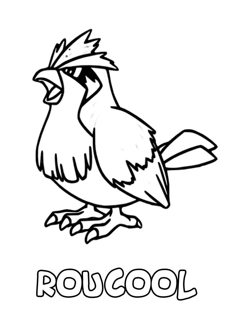 dessin à imprimer du Pokemon Roucool