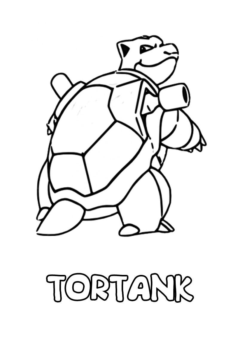 dessin à imprimer du Pokemon Tortank