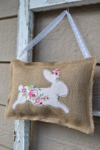 Burlap Bunny Pillows