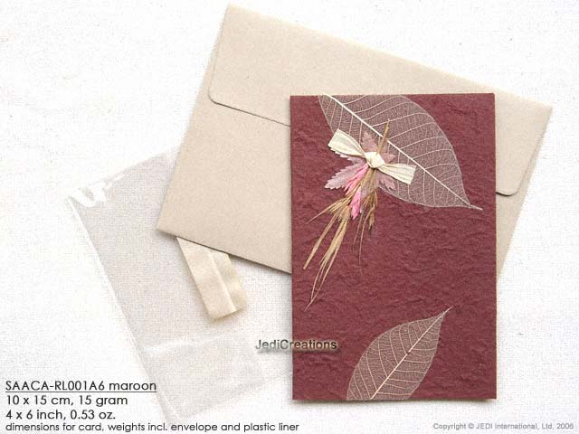 Wholesale Mulberry Paper Greeting Cards Manufacturer