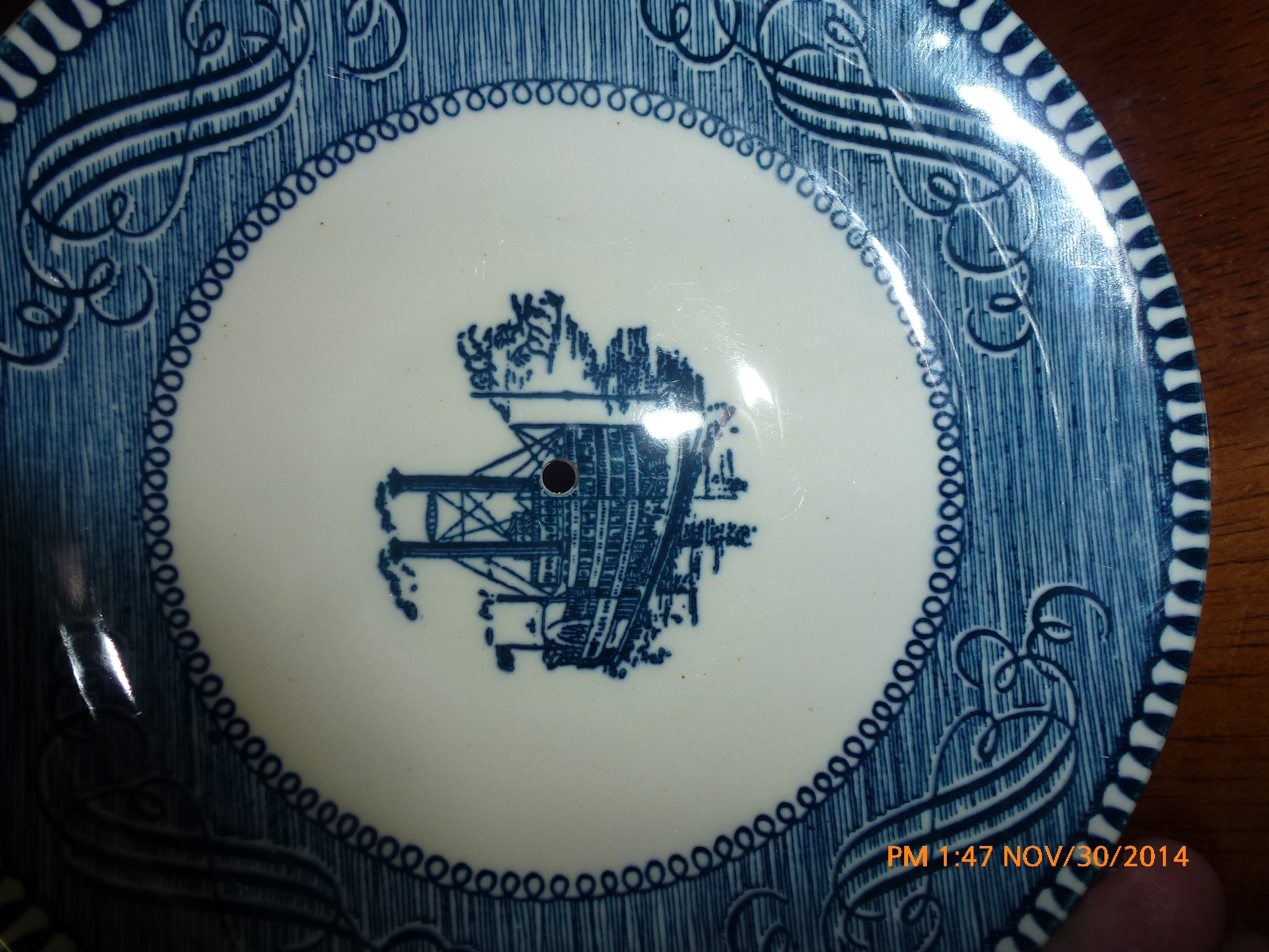 Currier & Ives Tiered Plates - Jedidiah Stolzfus