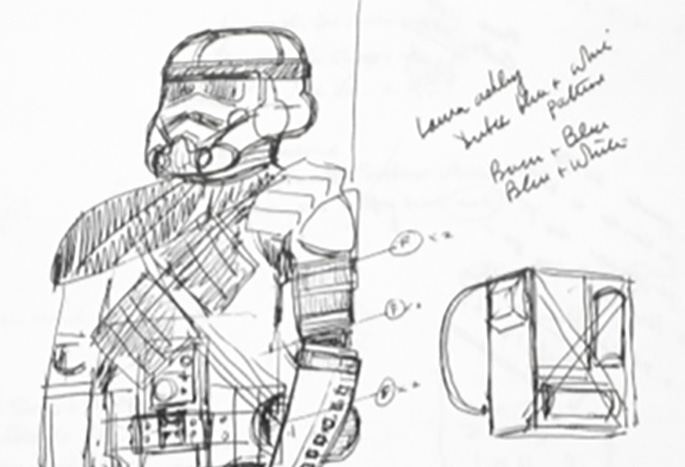 John Mollo's Personal Sketchbooks from Star Wars Offered