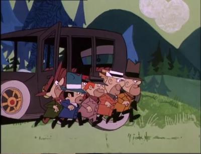 The Bulletproof Bomb Or Roaring Plenty Is The Vehicle Driven By Ant Hill Mob In Wacky Races
