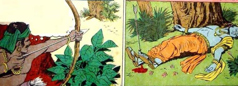 the death of lord krishna after gandharis curse