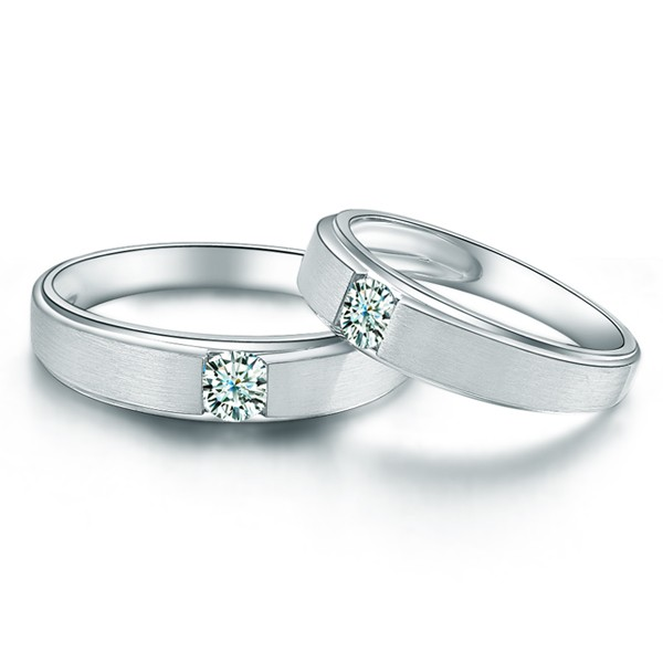 Charming His And Hers Anniversary Gift Rings 020 Carat