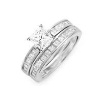 Inexpensive Bridal Ring Set on - JeenJewels