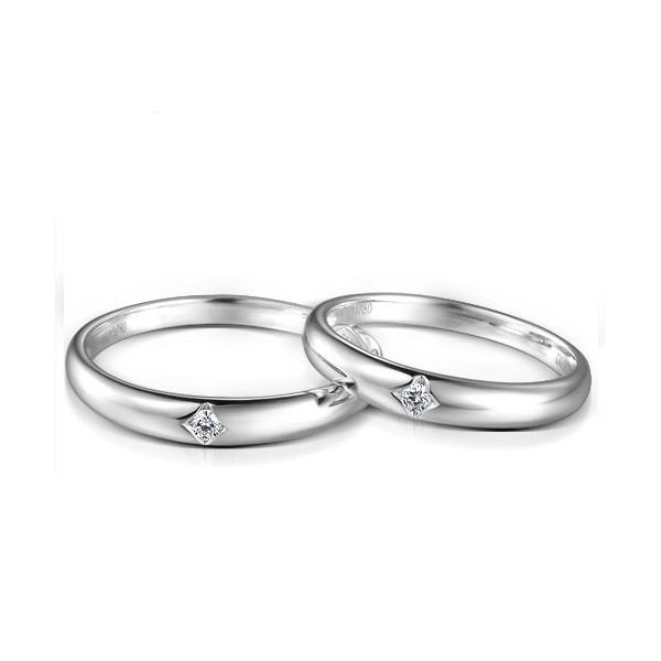 Inexpensive Matching Couples Diamond Wedding Bands Rings