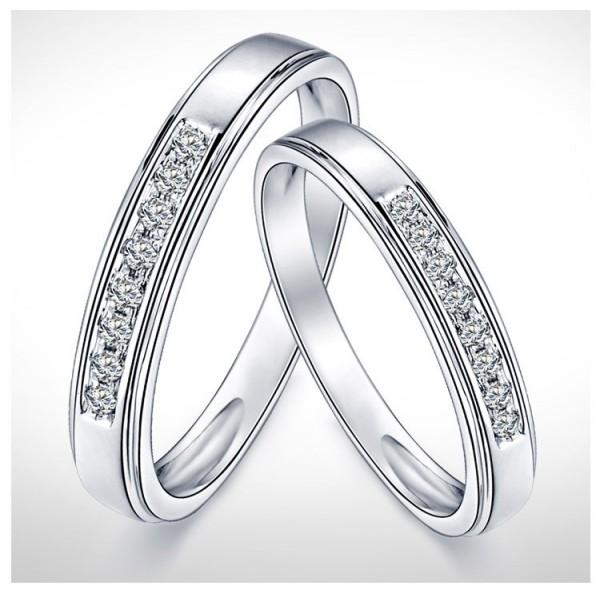 Mesmerizing Happy Couples Rings 025 Carat Diamond On Gold