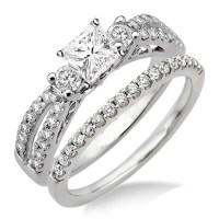 Antique Style Wedding Ring Set on - JeenJewels