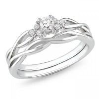 Wedding Sets: Black Diamond White Gold Wedding Sets