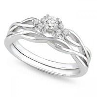 Precious Diamond Bridal Ring Set 0.25 Carat Round Cut ...