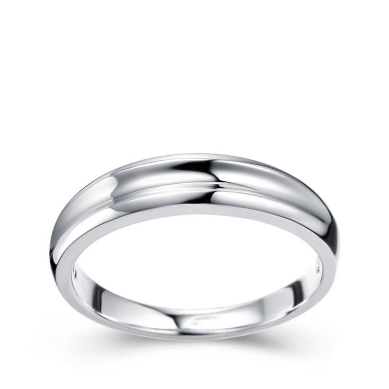 Mens Wedding Ring Band On White Gold JeenJewels