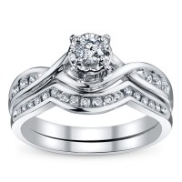 Bridal Sets: Diamond Bridal Sets White Gold