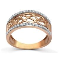 Designer Rose Gold Diamond Wedding Band Ring for Women ...
