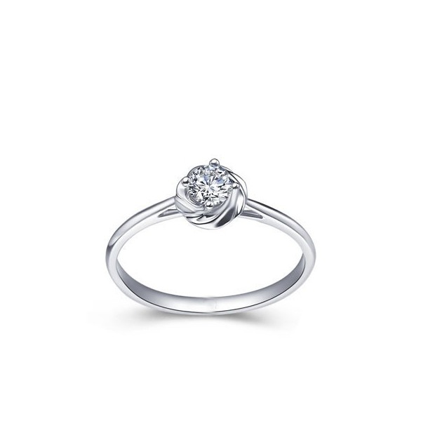 Lovely Flower Cheap Solitaire Diamond Ring 025 Carat