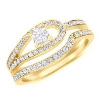Antique Style Wedding Ring Set - JeenJewels