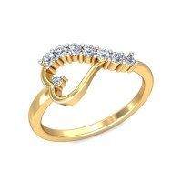 Gold Engagement Ring Heart