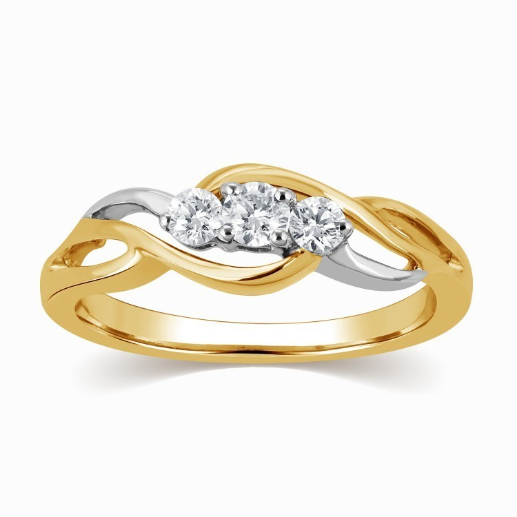 Gorgeous Infinity Ring Diamond Ring 0.25 Carat Round Cut